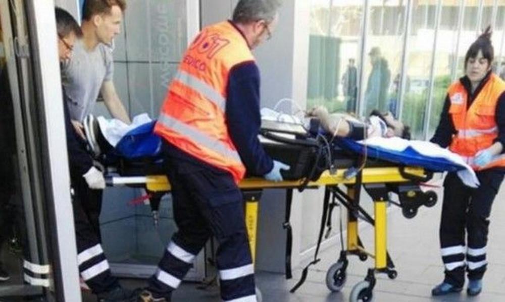 Στο νοσοκομείο ποδοσφαιριστής που έπεσε από τον τρίτο όροφο! (photos)