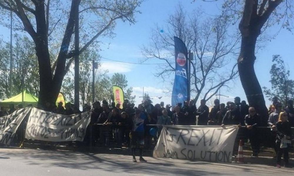 Οπαδοί του ΠΑΟΚ στον Μαραθώνιο με δυναμική παρέμβαση