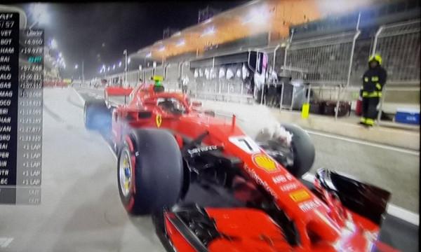 Σοκαριστικός τραυματισμός στο Μπαχρέιν με τον μηχανικό της Φεράρι, «πρωτιά» για Φέτελ  (video)