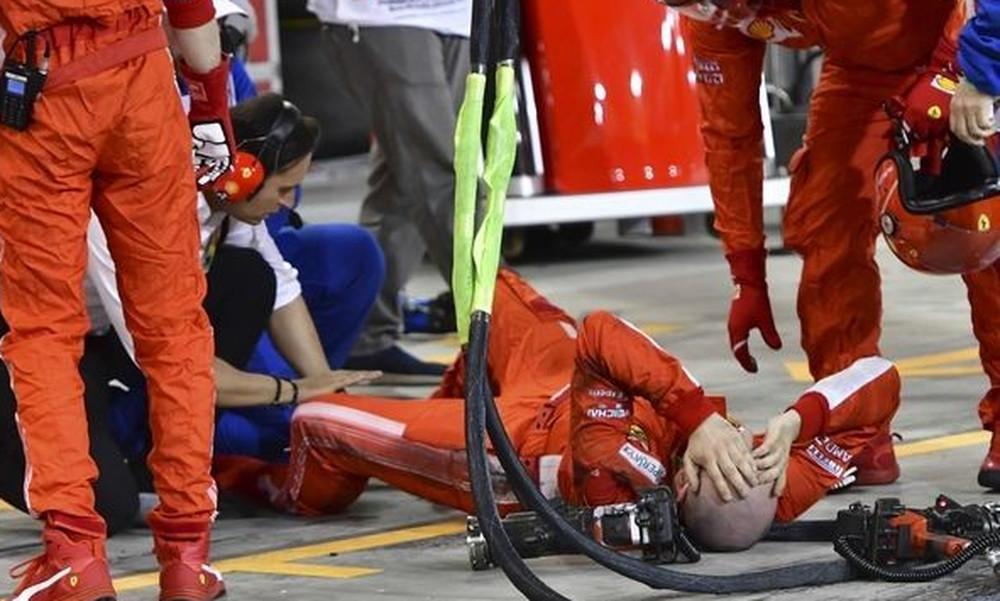 Η εξήγηση του Ραϊκόνεν για τον τραυματισμό-σοκ του μηχανικού της Φεράρι (video, photos)