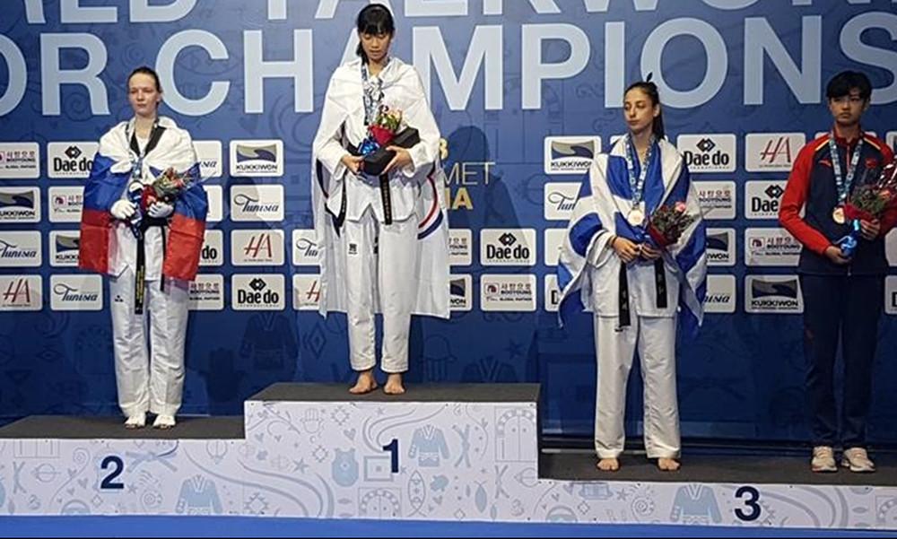 «Χάλκινη» παγκόσμια πρωταθλήτρια η Φανή Τζέλη