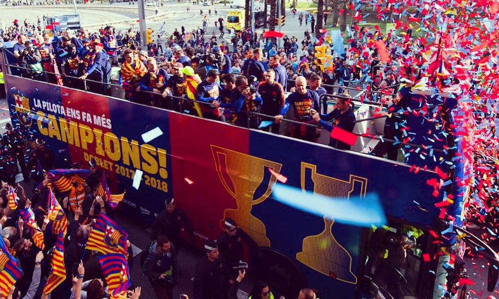 Μπαρτσελόνα: Ασταμάτητο πάρτι για το νταμπλ! (photos+video)