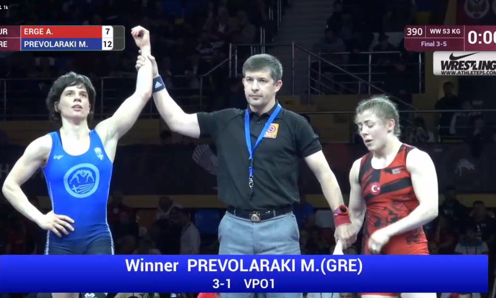 Χάλκινο μετάλλιο για την Πρεβολαράκη στο Ευρωπαϊκό πρωτάθλημα!