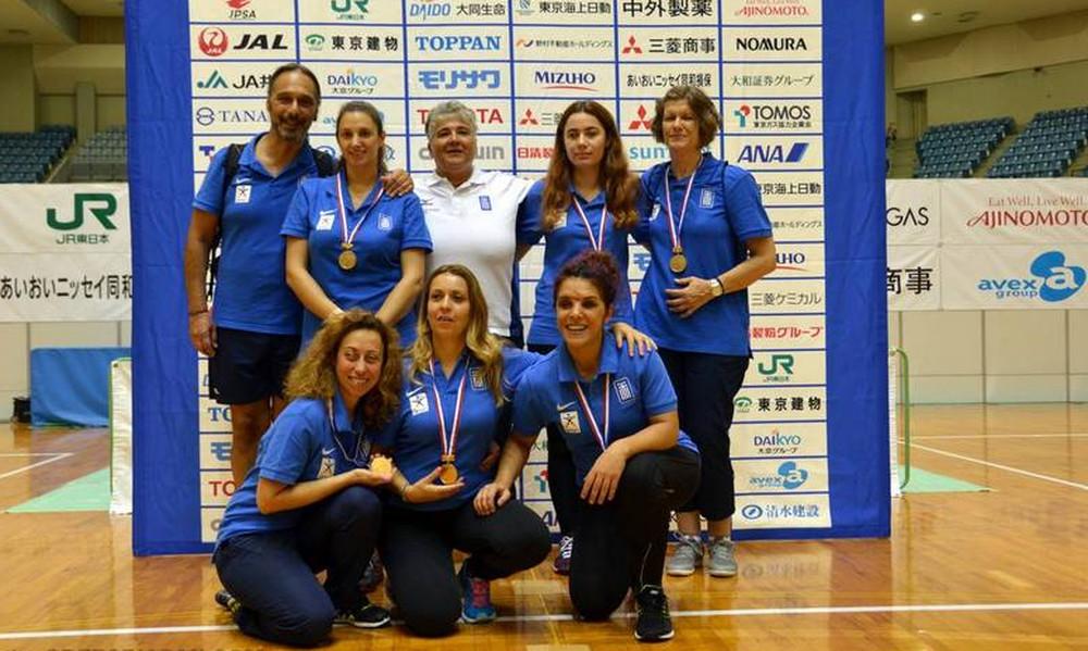 Χάλκινο μετάλλιο για την εθνική ομάδα γκόλμπολ των γυναικών στο τουρνουά των Βρυξελλών