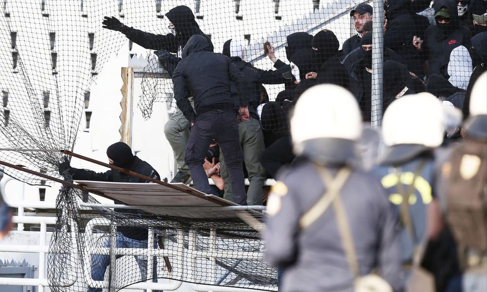 Τελικός Κυπέλλου: Οι οπαδοί του ΠΑΟΚ ετοιμάζουν «ντου» με αυτοσχέδιες γέφυρες! (photos)