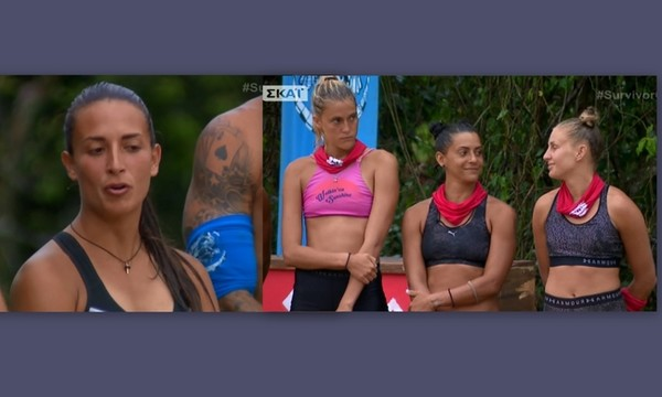 Survivor 2: Η γκριμάτσα της Δαλάκα την στιγμή που η Σαλταφερίδου μιλούσε για την νέα της ομάδα