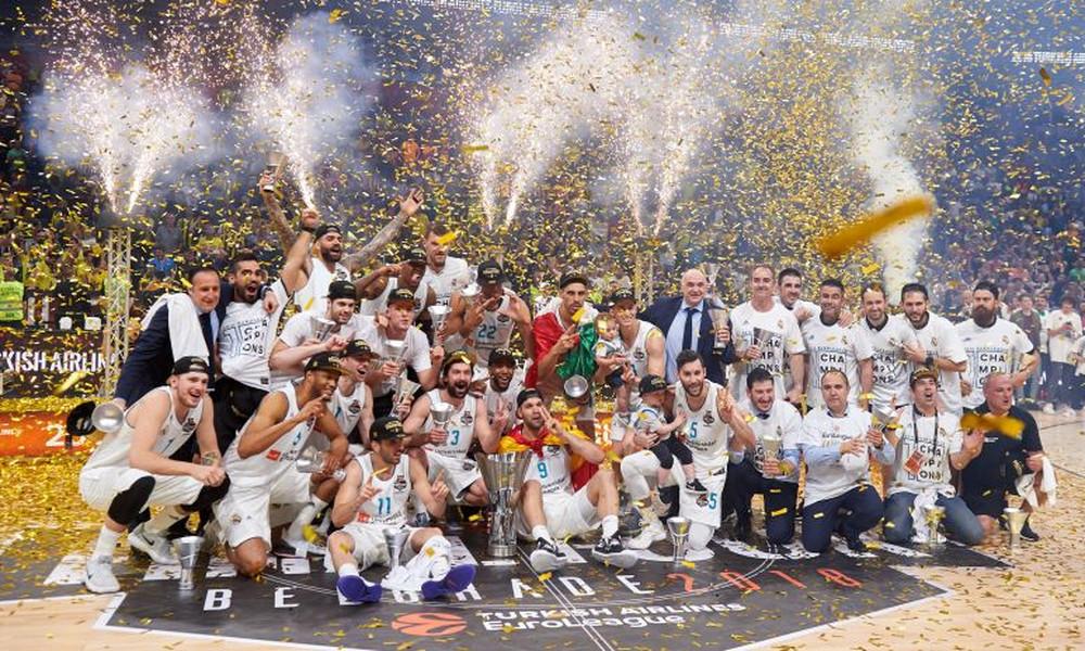Euroleague: Τα συγχαρητήρια ομάδων στη Ρεάλ Μαδρίτης (photo)