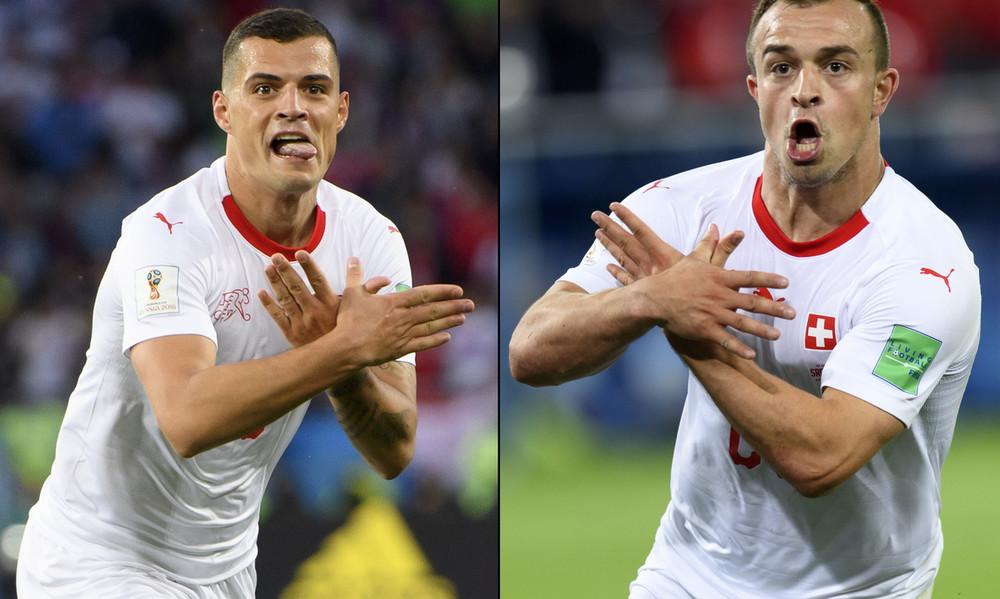 Παγκόσμιο Κύπελλο Ποδοσφαίρου 2018: Αυτή είναι η τιμωρία των Ελβετών για το σχηματισμό του αλβανικού