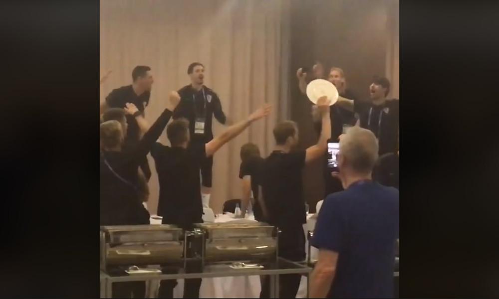 Παγκόσμιο Κύπελλο Ποδοσφαίρου 2018: Τρελοί πανηγυρισμοί Κροατών για την πρόκριση (video)