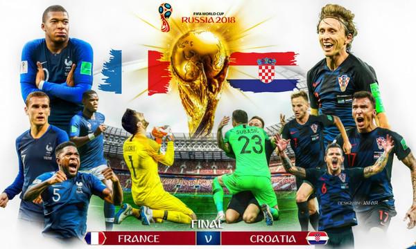 Παγκόσμιο Κύπελλο Ποδοσφαίρου 2018: Γαλλία - Κροατία: Ποια θα σηκώσει το Μουντιάλ;