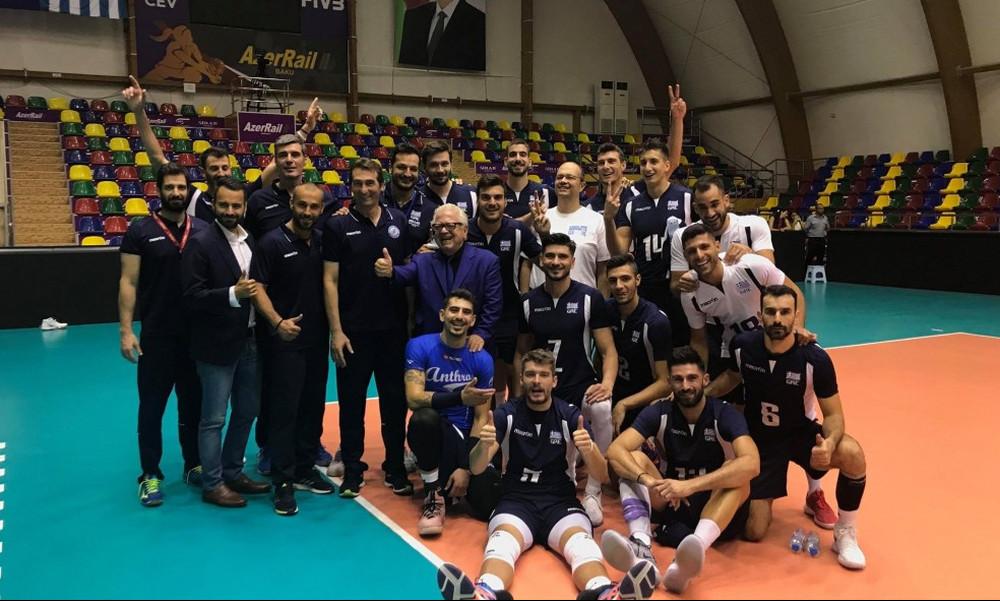 Αζερμπαϊτζάν-Ελλάδα 2-3: Στην τελική φάση του Ευρωπαϊκού Πρωταθλήματος η Εθνική ανδρών