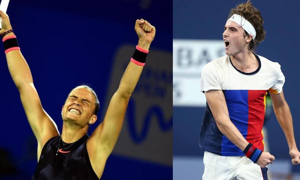 Τένις: «Με το δεξί» Τσιτσιπάς και Σάκκαρη