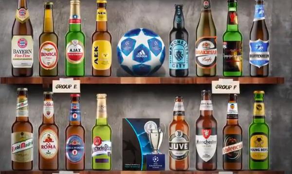 Πώς θα ήταν οι 32 ομάδες του Champions League αν ήταν μπουκάλια μπίρας; (vid)