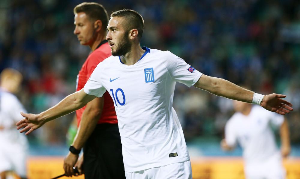 Εσθονία-Ελλάδα: Το 1-0 για τη «γαλανόλευκη» με Φορτούνη (video)