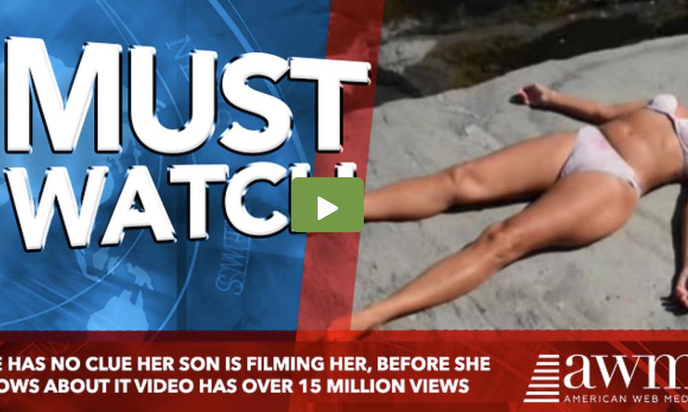 Την βιντεοσκοπούσε ο γιος της - Όταν είδε το βίντεο στο διαδίκτυο, είχε 15 εκατ. προβολές (video)