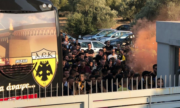 AEK: «Ντόπες» οπαδών στα Σπάτα εν όψει ΠΑΟΚ - Η αποστολή για Τούμπα