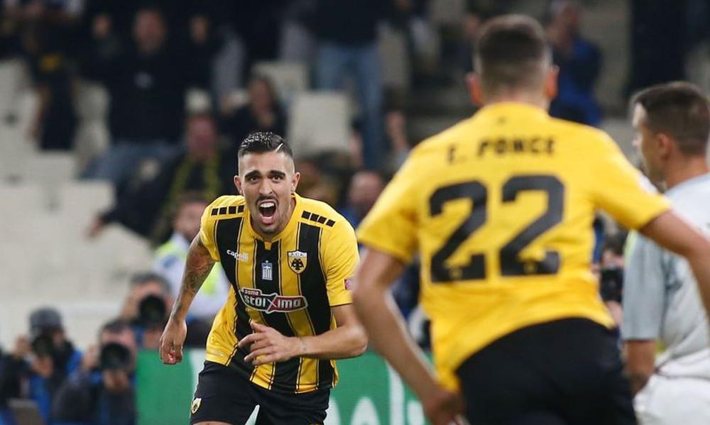 ΑΕΚ – Μπενφίκα 2-2: Το ισοφάρισε μόνος του ο Κλωναρίδης! (video)