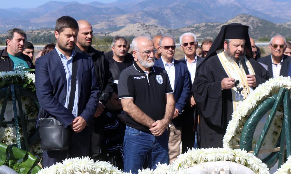 ΠΑΟΚ: Παρουσία Ιβάν Σαββίδη το μνημόσυνο για τα θύματα των Τεμπών (photos)