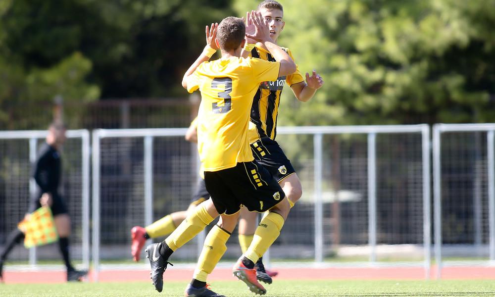 ΑΕΚ-Ολυμπιακός 1-0: «Κιτρινόμαυρο» το ντέρμπι στην Κ-19