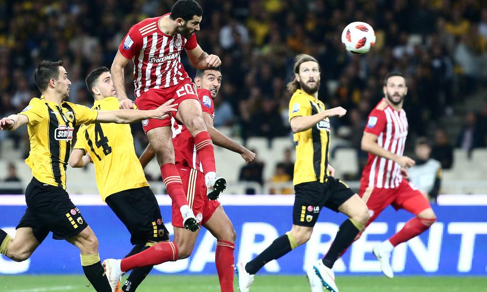 ΑΕΚ-Ολυμπιακός 1-1: Τα γκολ του αγώνα και η απίστευτη χαμένη ευκαιρία του Φετφατζίδη (video)