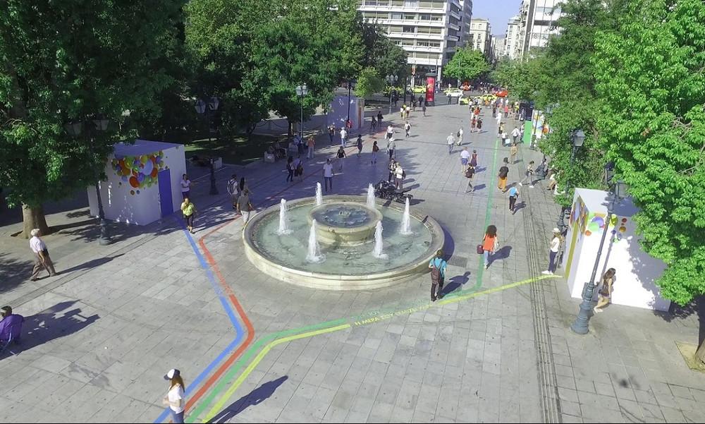 Ο ΟΠΑΠ «ξαναχτυπά» με χρώμα και εκπλήξεις στο κέντρο της Αθήνας (video+photos)