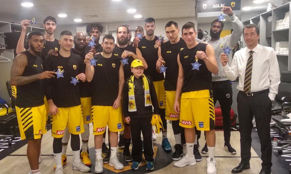 Σπουδαία κίνηση από την ΑΕΚ! Έδωσε χαρά στον μικρό Κωνσταντίνο (photo)
