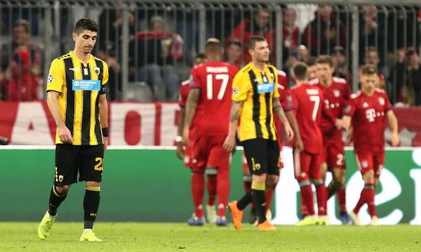 Μπάγερν Μονάχου-ΑΕΚ 2-0: Άντεξε ένα ημίχρονο, αλλά «παραδόθηκε» (photos)
