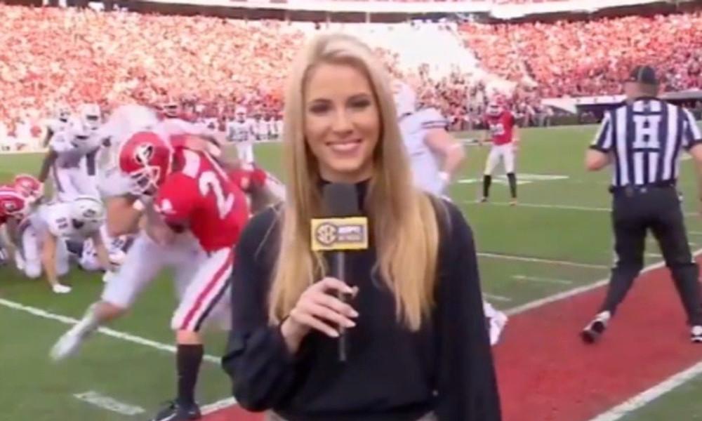 Απίστευτο: Παίκτης του NFL κάνει τάκλιν στην hot ρεπόρτερ! (vid)