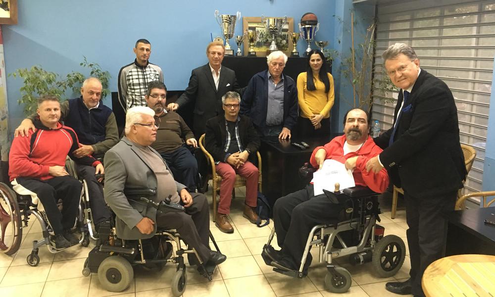 Το ΙΕΚ ΑΛΦΑ στηρίζει τον Πανελλήνιο Σύλλογο Παραπληγικών