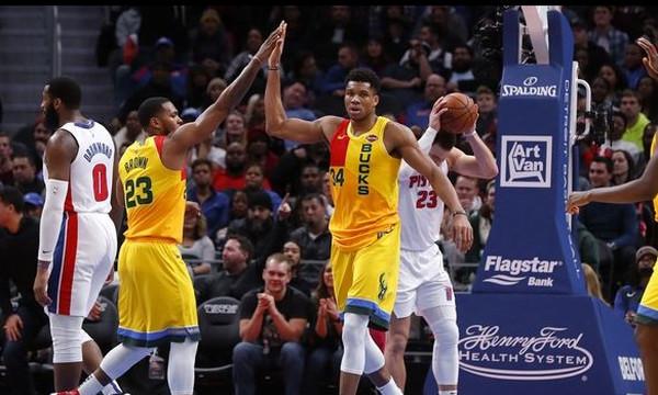NBA: Στην κορυφή της κατάταξης οι Μπακς του Γιάννη!