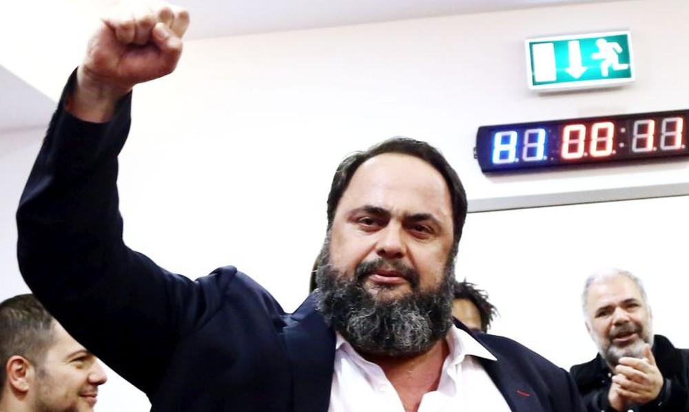 Μαρινάκης: «Ψηλά τη σημαία του Ολυμπιακού και της Ελλάδας»