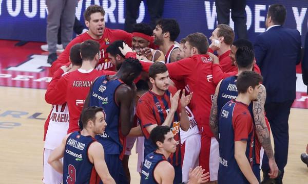 Η βαθμολογία στην Euroleague μετά τη νίκη του Ολυμπιακού επί της Μπασκόνια (photo)