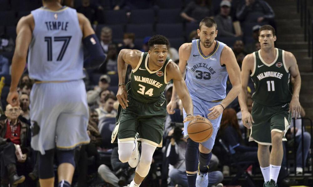 NBA: «Διπλός» Γιάννης στο σημερινό Top-10 (video)