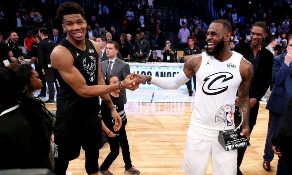NBA: Οι επιλογές των Αντετοκούνμπο και Λεμπρόν για το All Star Game