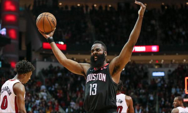 NBA: Ασταμάτητος Χάρντεν (video+photos)