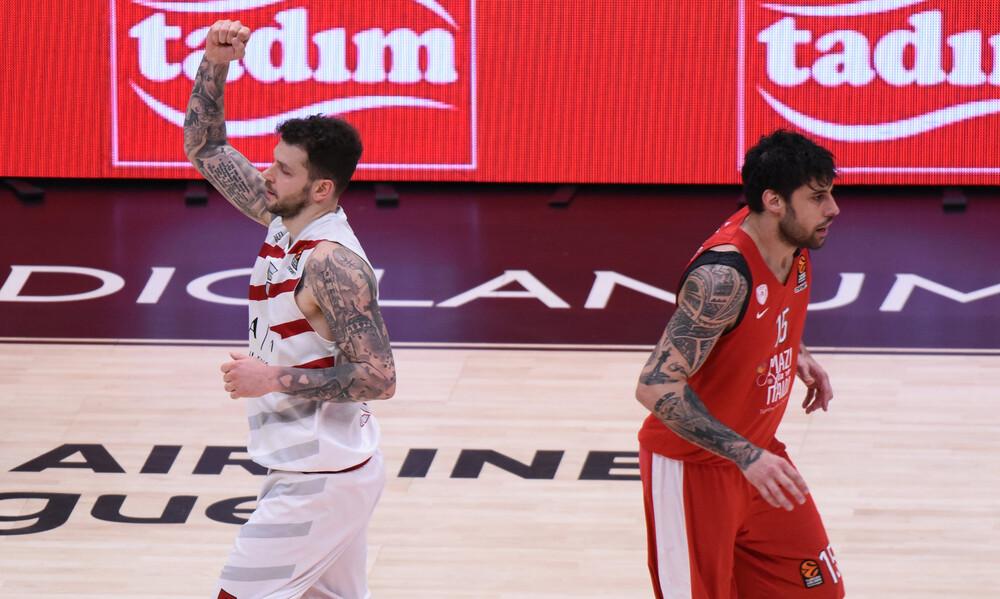 Euroleague: Η βαθμολογική θέση του Ολυμπιακού μετά την ήττα στο Μιλάνο