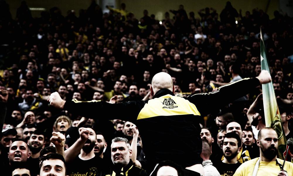 Κυρίαρχος ο κόσμος της ΑΕΚ στο Basketball Champions League! (photos)