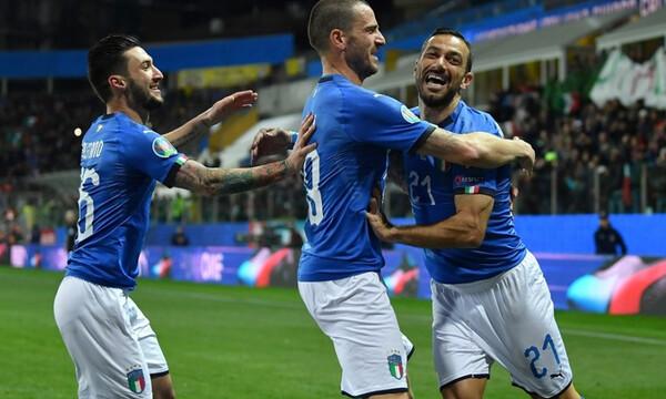 Προκριματικά EURO 2020: Σαρωτική η Ιταλία, «αυτοκτόνησαν» Ελβετία και Νορβηγία