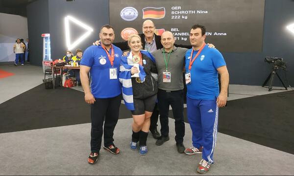Άρση Βαρών: Πρωταθλήτρια Ευρώπης η Κωνσταντινίδη