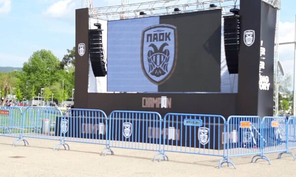 Μικρή η Τούμπα για τη φιέστα του ΠΑΟΚ! Γιγαντο-οθόνη στον Λευκό Πύργο (photos)