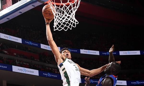 NBA: «Σκούπα» για Μπακς, τεράστιος Γιάννης (photos+video)