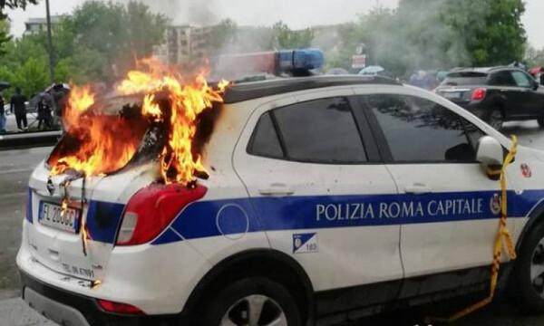 Τα έκαναν «σμπαράλια» στη Ρώμη οι οπαδοί της Λάτσιο (video+photos)