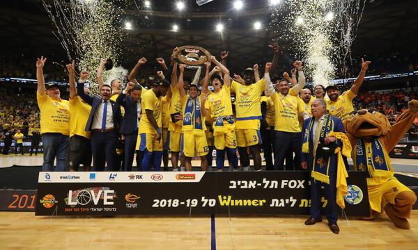 Πρωταθλητής με τη Μακάμπι Τελ Αβίβ ο Σφαιρόπουλος, μπουγέλο από τους παίκτες του! (video)
